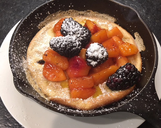 Dutch Baby Pancakes with Fruit