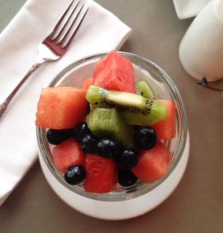 Fresh Fruit with Lemon and ginger