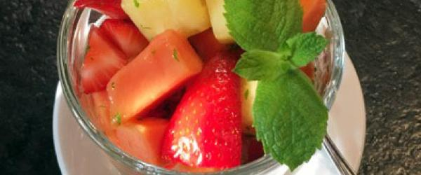 Fresh Fruit with lime and mint