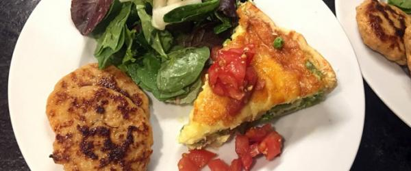 Vegetable Quiche with Tomato concasse'